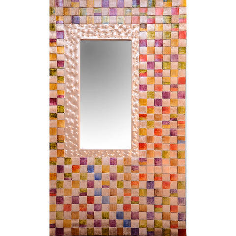 Jean and Tom Heffernan Art Mirrors Big Box of Crayons Artistic Handwoven Copper Mirrors