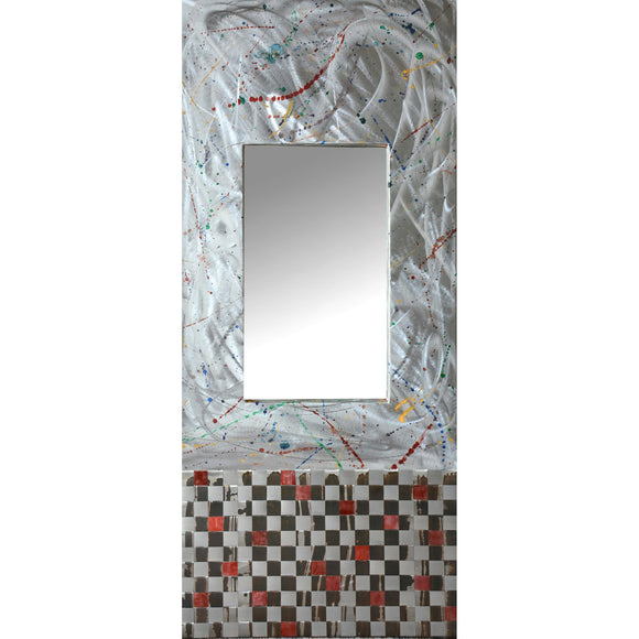 Jean and Tom Heffernan Art Mirrors Fireworks Steel Mirror, Art Mirrors