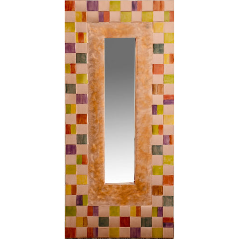 Jean and Tom Heffernan Art Mirrors Kisses Artistic Handwoven Copper Mirrors
