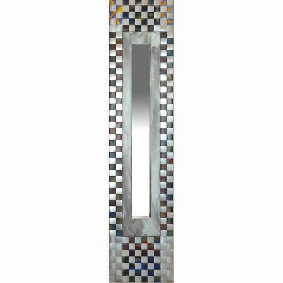 Jean and Tom Heffernan Art Mirrors Terra Firma, Artistic Handwoven Steel and Tin Mirrors