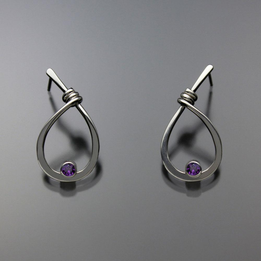 Hand Crafted Amethyst Earrings