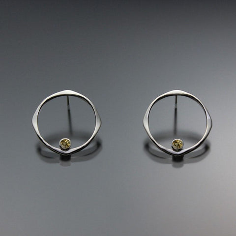 John Tzelepis Jewelry Sterling Silver Citrine Earrings EAR070SMSSCI Handcrafted Artistic Artisan Designer Jewelry