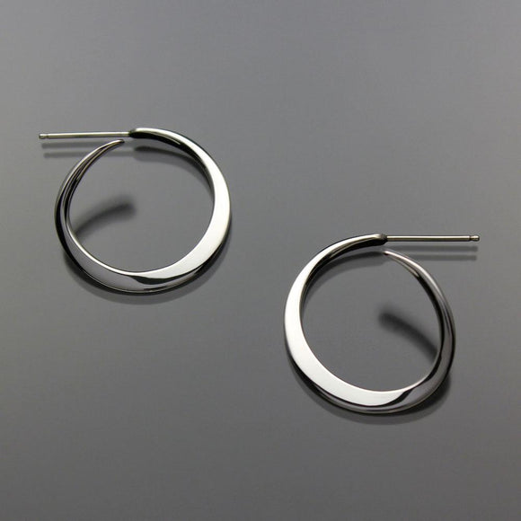 John Tzelepis Jewelry Sterling Silver or 14K Gold Earrings EAR012MDSS-2 Handcrafted Artistic Artisan Designer Jewelry