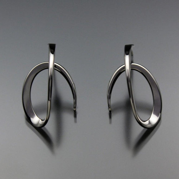 John Tzelepis Jewelry Sterling Silver or 14K Gold Earrings EAR112LGSS-1 Handcrafted Artistic Artisan Designer Jewelry