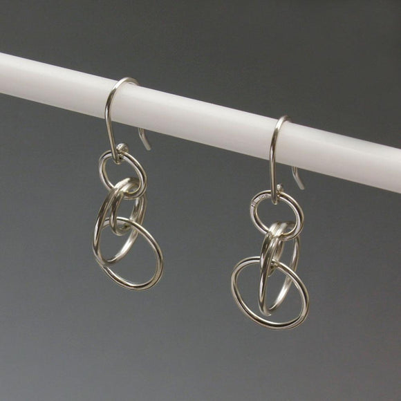 John Tzelepis Jewelry Sterling Silver Earrings EAR560SM-1 Handcrafted Artistic Artisan Designer Jewelry