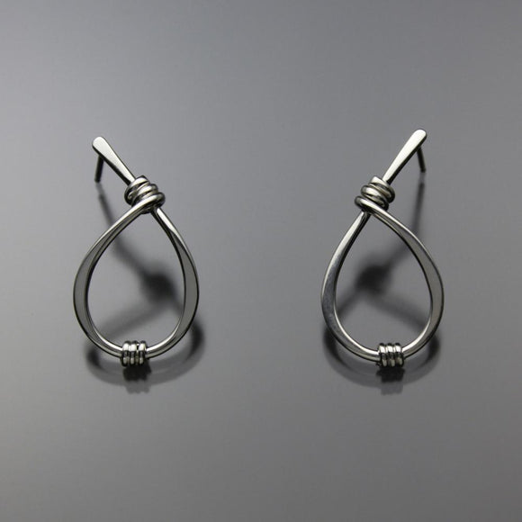 John Tzelepis Jewelry Sterling Silver Earrings EAR190SMSS-1 Handcrafted Artistic Artisan Designer Jewelry