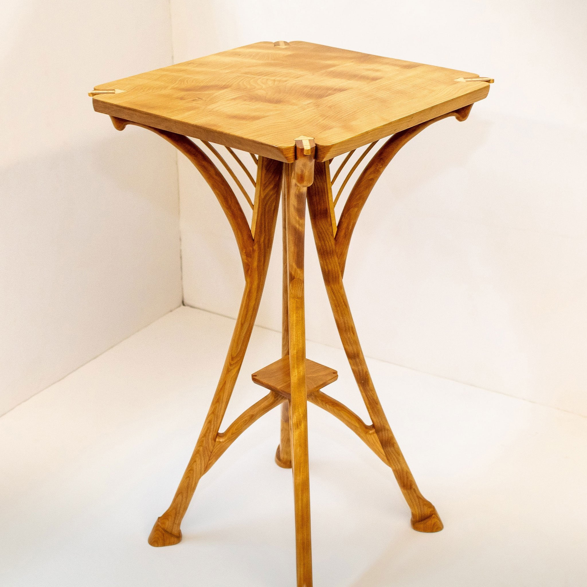 Joseph muehl flame birch end table artistic artisan handcrafted furniture
