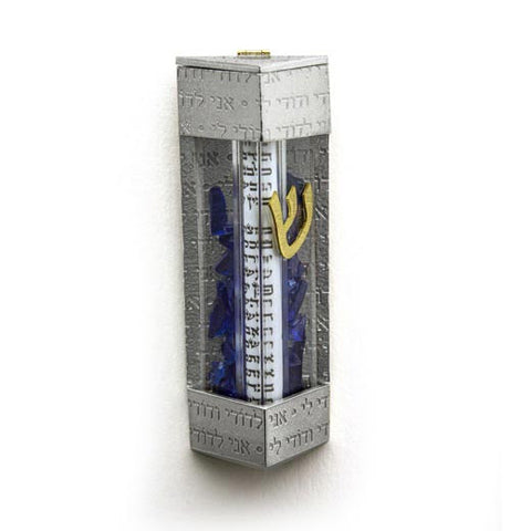 Contemporary Wedding Shard Mezuzah 169-B by Joy Stember Metal Arts Studio