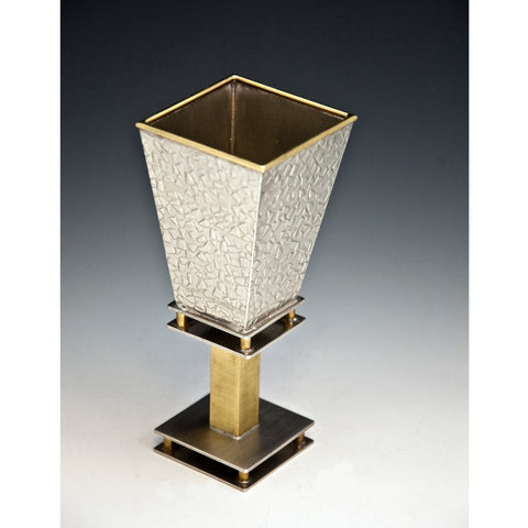 Kiddush Cup 108 Square by Joy Stember Metal Arts Studio