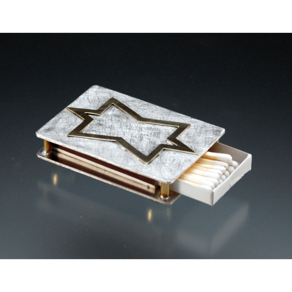 Joy Stember Metal Arts Studio Matchbox Holder 104, Artistic Artisan Designer Judaica