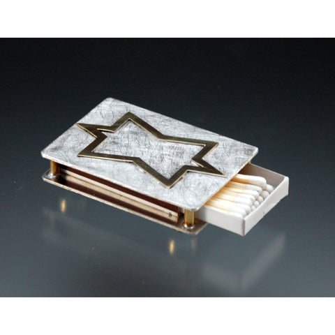 Matchbox Holder 104 by Joy Stember Metal Arts Studio