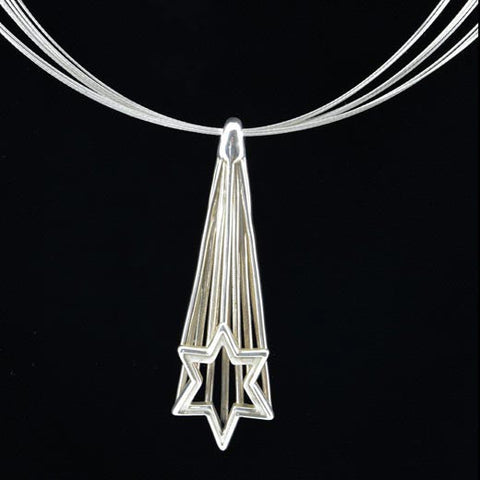 Shooting Star Necklace 190 by Joy Stember Metal Arts Studio