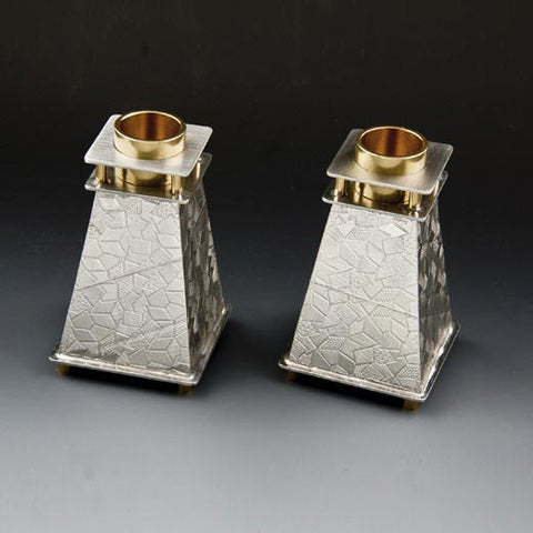 Candle Holders 105 Tapered by Joy Stember Metal Arts Studio, Artistic Artisan Designer Judaica