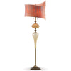 Kinzig Design Owen Floor Lamp F90 AO 145 Gold And Cream Blown Glass Base with Mango Velvet Shade Artistic Artisan Designer Floor Lamps