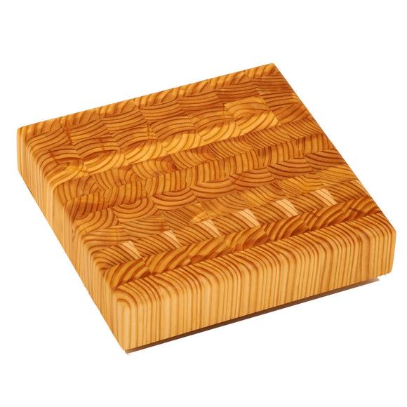 Larch Wood Cheese CHE End Grain Cutting Board