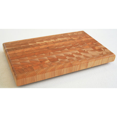 Larch Wood Large One Hander OHLG End Grain Cutting Board