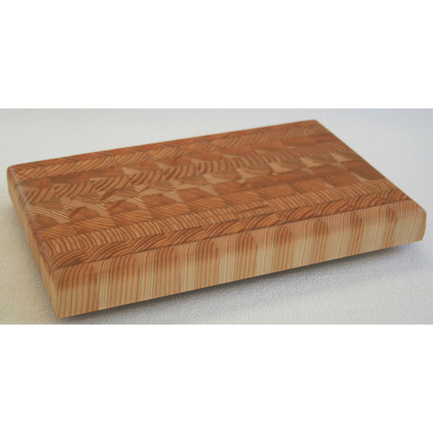 Small One Hander OHSM End Grain Cutting Board by Larch Wood