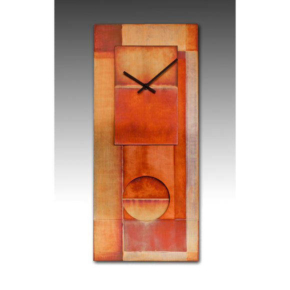 Leonie Lacouette All Copper 24 Pendulum Clock, Artistic Artisan Designer Clocks
