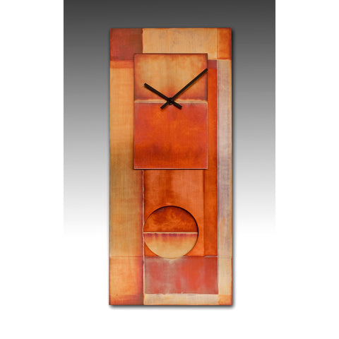 All Copper 24 Pendulum Clock by Leonie Lacouette