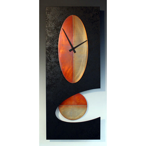 Black 30 Oval Pendulum Clock by Leonie Lacouette