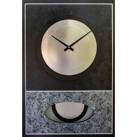 Leonie Lacouette Black and Silver Walid Pendulum Wall Clock