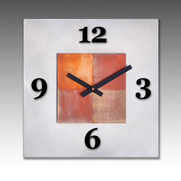 Leonie Lacouette Kitchen Steel Clock, Artistic Artisan Designer Clocks