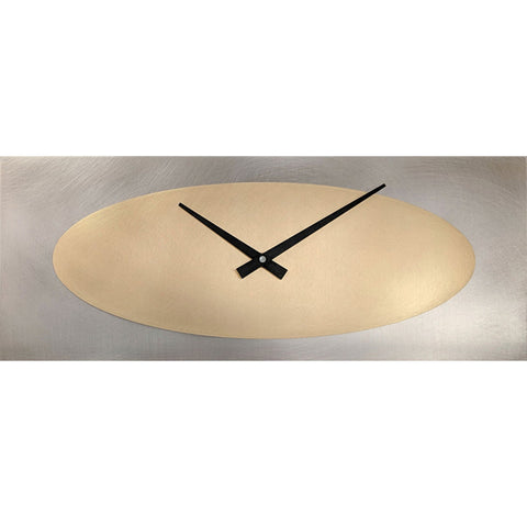 Leonie Lacouette Marley Steel and Brass Wall Clock Artistic Artisan Designer Clocks