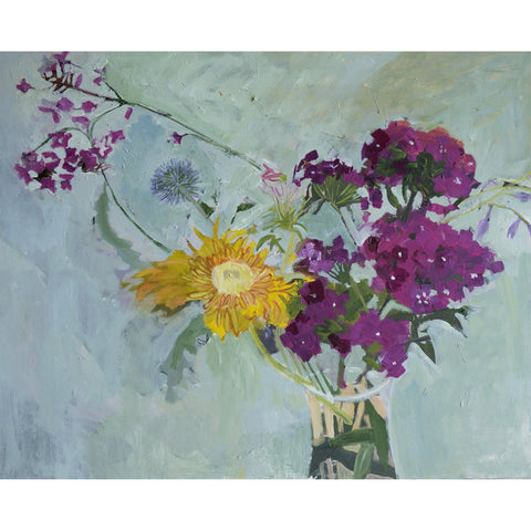 Lila Bacon Floral Painting on Canvas Summer Phlox 24x30 2019 c-lb303
