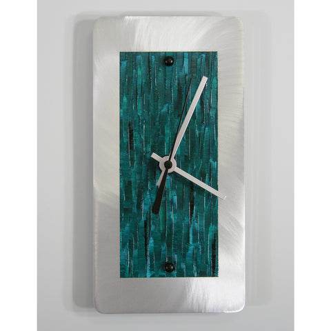 Brushed Aluminum Clock A48 by Linda Lamore