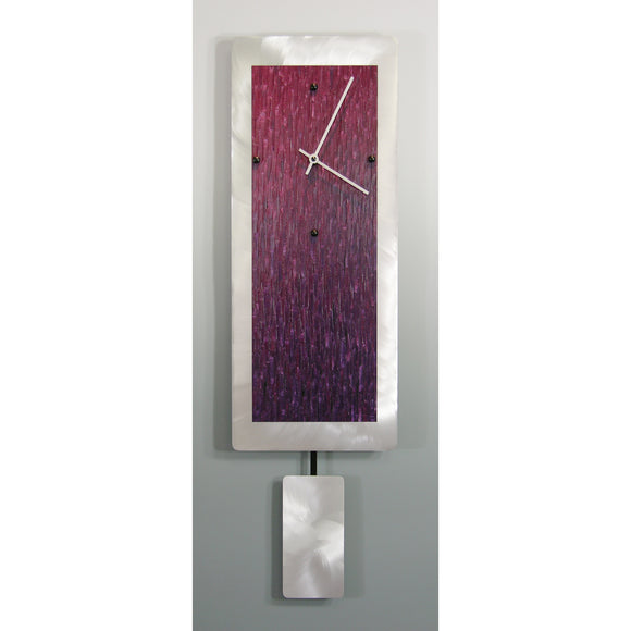Pendulum Clocks A820P, A1020P, A1224P Crimson Purple 2000 by Linda Lamore