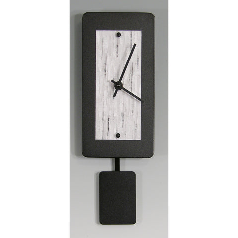 Black Powder Coated Aluminum Pendulum Clock B48P by Linda Lamore