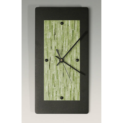Linda Lamore Black Powder Coated Aluminum Clock B612, Artistic Artisan Designer Clocks