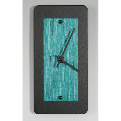 Linda Lamore Black Powder Coated Aluminum Clock B48, Artistic Artisan Designer Clocks