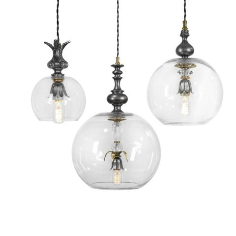 Luna Bella Bubble Pendant 8 12 and 16 Inches Artistic Artisan Designer Pendant Lamps 3