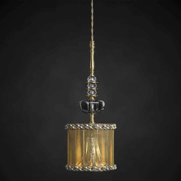 Luna Bella Giverny Pendant Lamp with Gold or Silver Mesh Artistic Artisan Designer