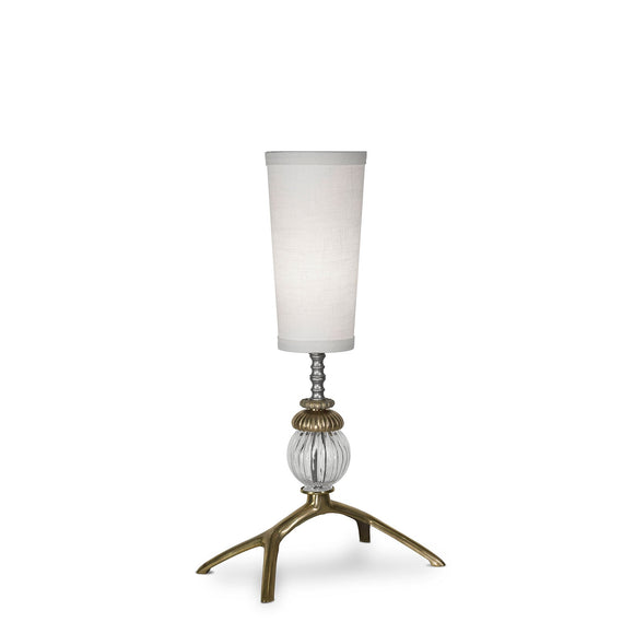 Luna Bella Maeve Mini Table Lamp with Solid Brass and Glass Artistic Artisan Designer Table Lamps