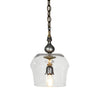 Luna Bella Olande Large and Small Pendant Light with Italian Brass and Hand Cut Leaded Crystal Hand Artistic Artisan Designer Pendant Lighting