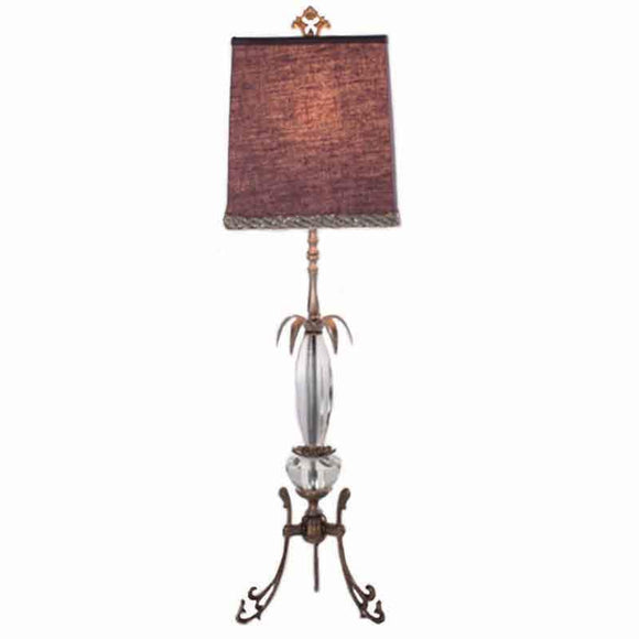 Luna Bella Plum Table Lamp Artistic Artisan Designer Table Lamps