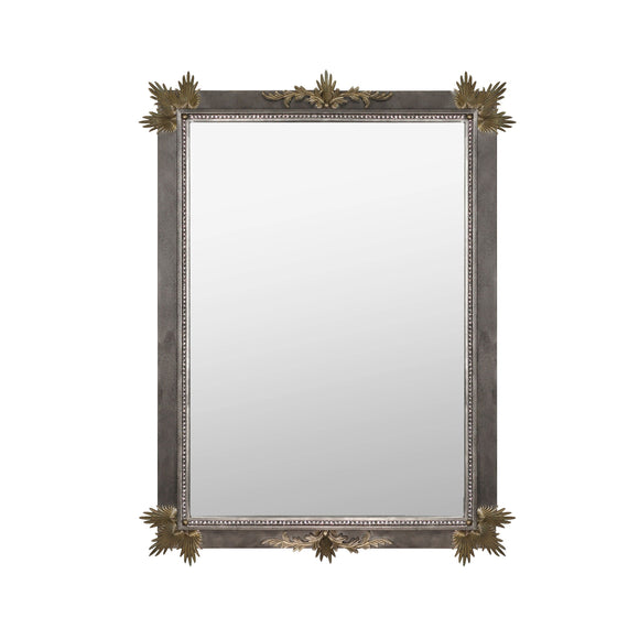 Luna Bella Rive Gauche Mirror with Hand Forged Iron Painted Gold Artistic Artisan Designer Mirrors