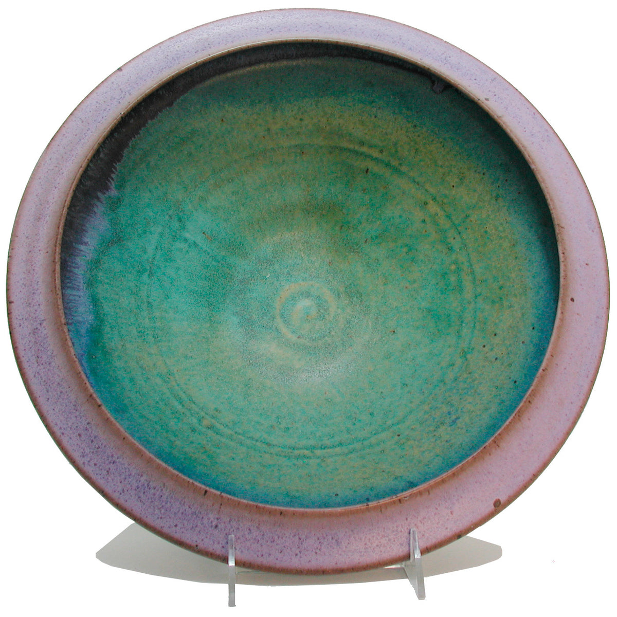 Maishe Dickman Hand Thrown Stoneware Turquoise Serving