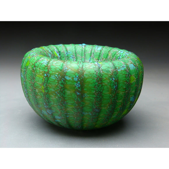 Medium Treasure Bowl in Green Handblown Glass Bowl by Thomas Spake Studios Artisan Handblown Art Glass Bowls