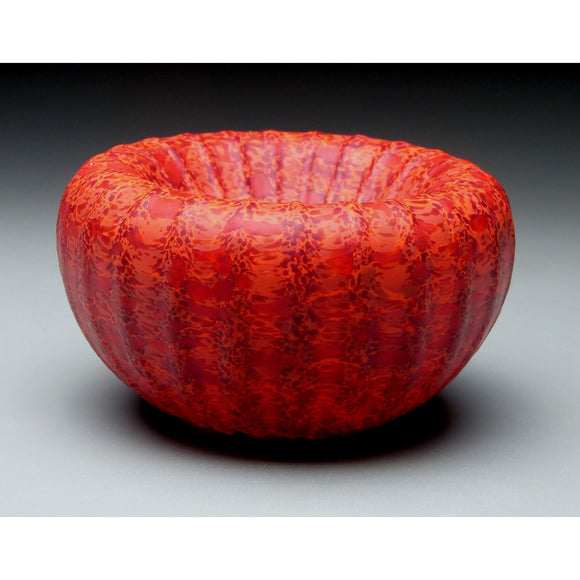 Medium Treasure Bowl in Red Handblown Glass Bowl by Thomas Spake Studios Artisan Handblown Art Glass Bowls