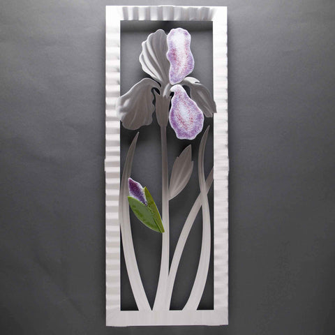 Metal Petal Art by Sondra Gerber Iris Wall Sculpture W022C in Brushed Aluminum