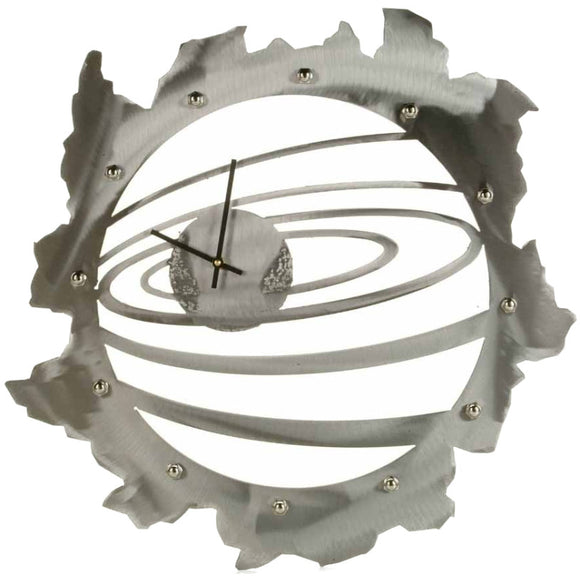 Metallic Evolution Galaxy Steel Wall Clock CLG-24, Artistic Artisan Designer Clocks