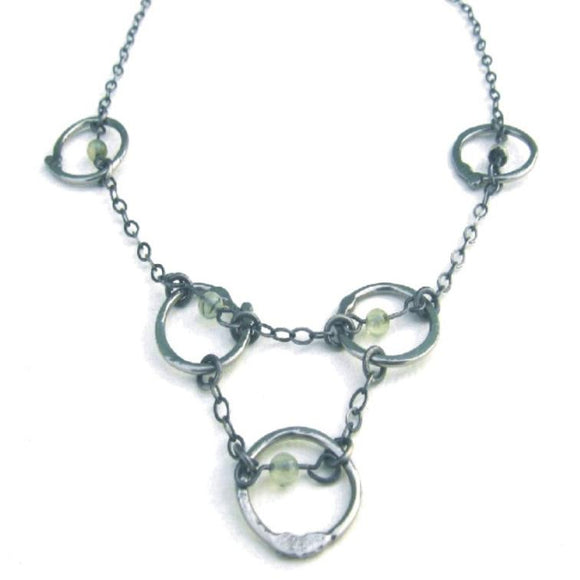 Metallic Evolution Links Necklace JLNKN05 Artistic Artisan Jewelry