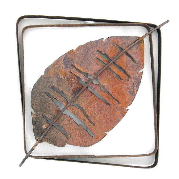 Metallic Evolution Outdoor Aspen Leaf Steel Frame XL LFRX-02, Small LFR-02, Artistic Artisan Sculptural Metal Wall Art