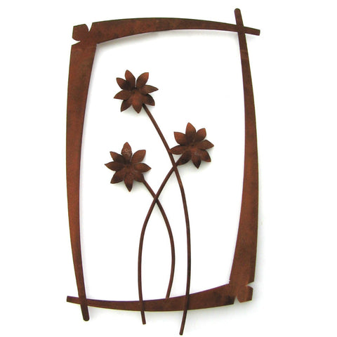 Field Dasies Wall Flower Steel Sculpture WFO-02 by Metallic Evolution
