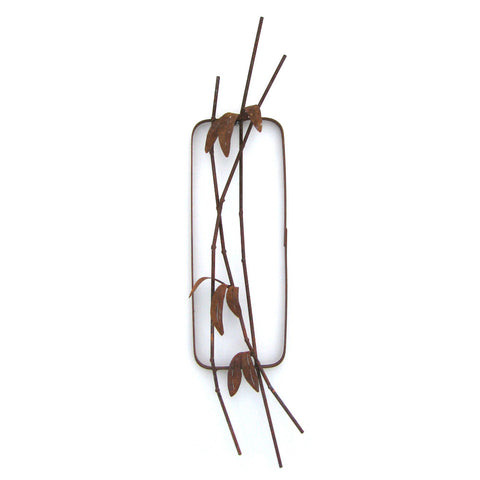 Steel Bamboo Wall Sculpture WSB-02 by Metallic Evolution