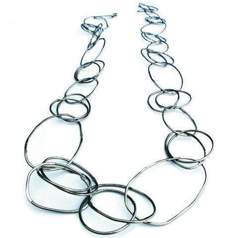 Metallic Evolution Rings Neck Chain JRRRP01 Artistic Artisan Jewelry