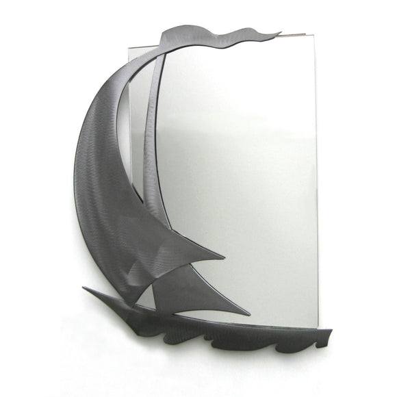 Metallic Evolution Sail Mirror MSL-523, Artistic Artisan Designer Mirrors